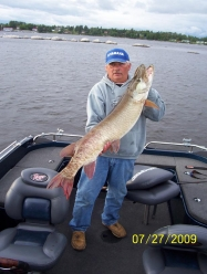 This is John DeGeorge with a 49 from Minaki, on the Winnipeg River